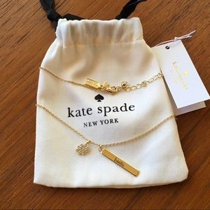"Kate Spade Crystal Hashtag ""Bestie"" Necklace"
